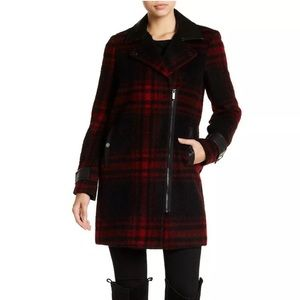 MICHAEL Michael Kors plaid wool coat